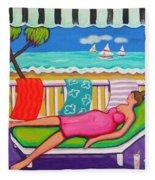 Seaside Siesta Fleece Blanket