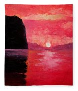 Seaside Sunset Fleece Blanket