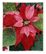 Seasonal Scarlet Fleece Blanket