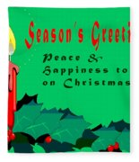 Seasons Greeting Fleece Blanket