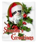 Seasons Greetings - Kitten Fleece Blanket