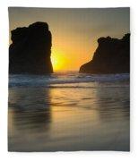 Seastacks, Oregon Fleece Blanket
