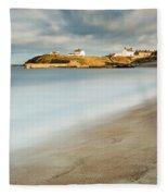 Seaton Sluice In Smooth Water Fleece Blanket