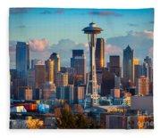 Seattle Afternoon Fleece Blanket