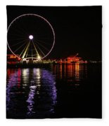 Seattle Ferris Wheel  Fleece Blanket