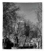 Seattle From Pioneer Square Fleece Blanket