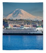 Seattle Harbor Fleece Blanket