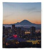 Seattle Morning Glow Fleece Blanket