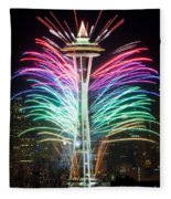 Seattle New Year Fleece Blanket