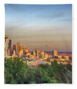 Seattle Skyline Lens Baby Hdr Fleece Blanket