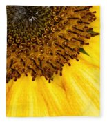 Seattle Sunflower Close-up Fleece Blanket