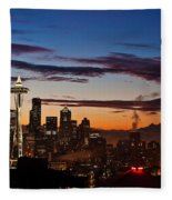 Seattle Sunrise Fleece Blanket