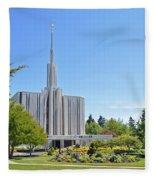 Seattle Temple - Horizontal Fleece Blanket