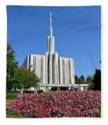 Seattle Temple Fleece Blanket