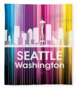 Seattle Wa 2 Fleece Blanket