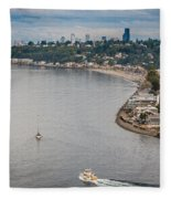 Seattle Waterfront 3 Fleece Blanket