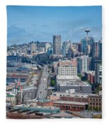 Seattle Waterfront Fleece Blanket