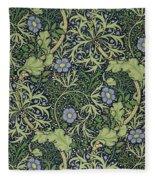 Seaweed Wallpaper Design Fleece Blanket