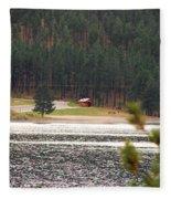 Secluded Cabin Fleece Blanket