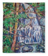 Secluded Waterfall Fleece Blanket