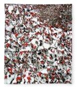 Secluded Winter Haven Fleece Blanket