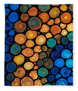 Second Chances - Abstract Art By Sharon Cummings Fleece Blanket