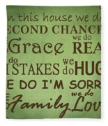 Second Chances In This House Fleece Blanket