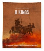 Second Kings Books Of The Bible Series Old Testament Minimal Poster Art Number 12 Fleece Blanket
