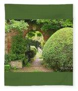 Secret English Garden Fleece Blanket