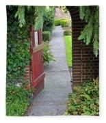 Secret Garden Door Fleece Blanket