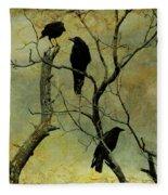 Secretive Crows Fleece Blanket