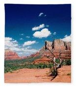Sedona Desert Scene Fleece Blanket