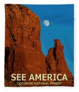 See America - Coconino National Forest Fleece Blanket