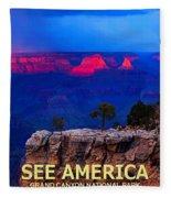 See America - Grand Canyon National Park Fleece Blanket