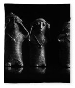 See No Evil Hear No Evi Speak No Evil 2 Fleece Blanket