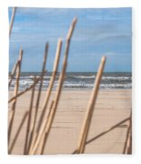 See Through On The Dutch Beach Fleece Blanket