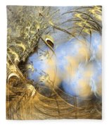 Seeds Of Peace -abstract Art Fleece Blanket by Sipo Liimatainen