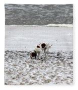 Seeking Sense Of Snow Fleece Blanket