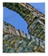 Segovia Aqueduct Arch By Diana Sainz Fleece Blanket