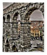 Segovia Aqueduct - Spain Fleece Blanket