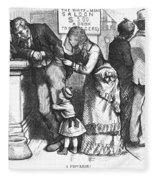 Segregated Saloon, 1875 Fleece Blanket