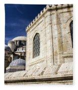 Sehzade Mosque Istanbul Fleece Blanket