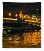 Seine's Current Fleece Blanket
