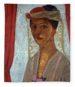 Self Portrait, 1906-7 Fleece Blanket