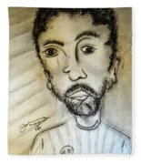 Self-portrait #2 Fleece Blanket