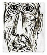 Self-portrait As An Old Man Fleece Blanket