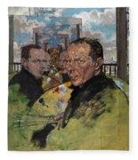 Self Portrait, C.1924 Fleece Blanket