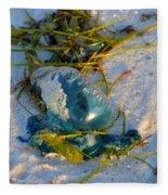 Self Portrait In Man O War On Navarre Beach Fleece Blanket