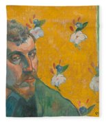Self-portrait With Portrait Of Bernard. Les Miserables. Fleece Blanket
