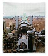 Self-propelled 8 Inch Howitzer M110 Lz Oasis R V N 1968 Fleece Blanket